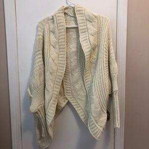 Sweaters - Cream Open Sweater Cardigan